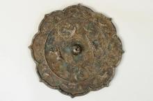 Chinese Bronze Mirror with Phoenix & Kylin