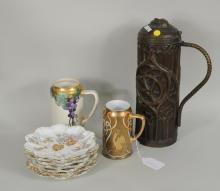 Group Porcelain & Brass Items