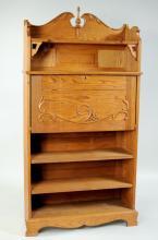 Oak Drop Front Desk/Bookcase