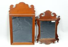 Two Small Chippendale Mirrors