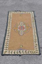 Folk Art Hooked Rug, American