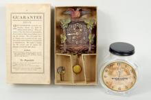 Keebler See Saw Clock w/Glass Clock Form Jar