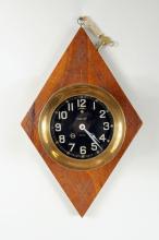 Chelsea Ship's Clock w/Black Dial