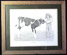Numbered Pencil Repro Western Art Signed by Artist-A