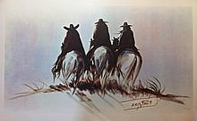 A. Kelly Pruitt, Three Men Riding Off, signed and numbered
