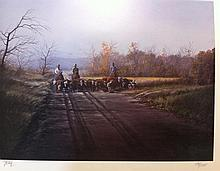 Ranchmen herding cattle, by Jerry Yarnell