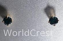 14Kt Gold Diamond Earrings-R-#22