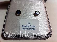 Sterling Silver Lolite Earrings-R-#23