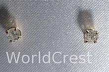 14Kt Gold Diamond Earrings-R-#28