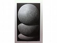 Three Spheres I by M. C. Escher
