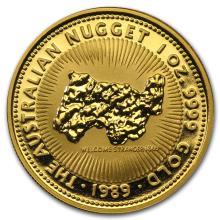 One 1989 Australia 1 oz Gold Nugget BU - WJA75838