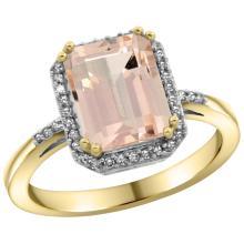 Natural 2.63 ctw Morganite & Diamond Engagement Ring 10K Yellow Gold - SC#CY913122 - REF#Y37H9