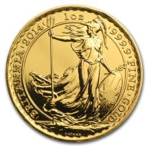 One 2014 Great Britain 1 oz Gold BU (w/Year of the Horse Privy Mark) - WJA84843