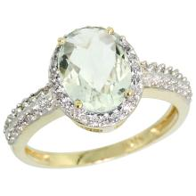 Natural 1.91 ctw Green-amethyst & Diamond Engagement Ring 14K Yellow Gold - SC-CY402139-REF#41A3V