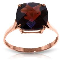 Genuine 4.5 ctw Garnet Ring Jewelry 14KT Rose Gold - GG-2320-REF#37P8H
