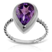 Genuine 2.5 ctw Amethyst Ring Jewelry 14KT White Gold  - WGG#5475