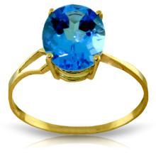 Genuine 2.2 ctw Blue Topaz Ring Jewelry 14KT Yellow Gold  - WGG#2034