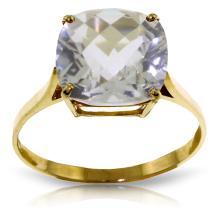 Genuine 3.6 ctw White Topaz Ring Jewelry 14KT Yellow Gold  - WGG#2554