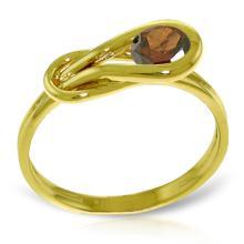 Genuine 0.65 ctw Garnet Ring Jewelry 14KT Yellow Gold  - WGG#4216
