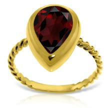 Genuine 3.5 ctw Garnet Ring Jewelry 14KT Yellow Gold  - WGG#5478