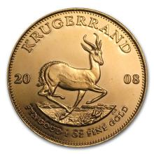One 2008 South Africa 1 oz Gold Krugerrand - WJA45098