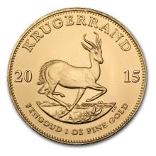 One 2015 South Africa 1 oz Gold Krugerrand - WJA84897