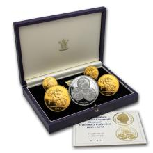 One 1993 Great Britain 5-Piece Gold Sovereign Proof Set - WJA83808