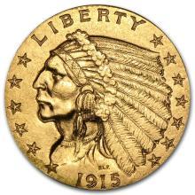 One $2.50 Indian Gold Quarter Eagle XF (Random Years) - WJA4024