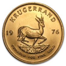 One 1976 South Africa 1 oz Gold Krugerrand - WJA87903