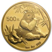 One 2007 China 1 oz Gold Panda BU (Sealed) - WJA18506