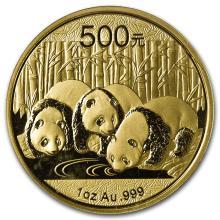 One 2013 China 1 oz Gold Panda BU (Sealed) - WJA71284