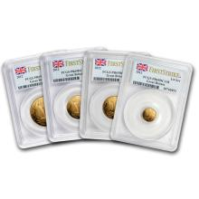 One 2012 Great Britain 4-Coin Gold Sovereign Set PR-69 PCGS (FS) - WJA88288