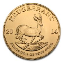 One 2014 South Africa 1 oz Gold Krugerrand - WJA79033