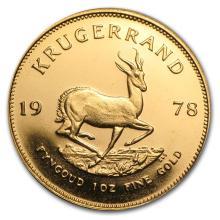 One 1978 South Africa 1 oz Gold Krugerrand - WJA23734