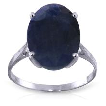 Genuine 8.5 ctw Sapphire Ring Jewelry 14KT White Gold - GG#2555