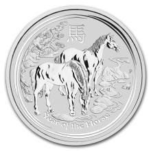 One 2014 Australia 5 oz Silver Lunar Horse (SII)