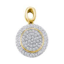 10K 2Tone Gold Jewelry 0.25 ctw Diamond Pendant - ID#L18Y1-WGD52634