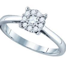 18K Yellow Gold Jewelry 0.31 ctw Diamond Ladies Ring - GD#77360