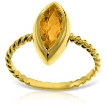Genuine 1.7 ctw Citrine Ring Jewelry 14KT Yellow Gold  - ID#L25A1-WGG5441