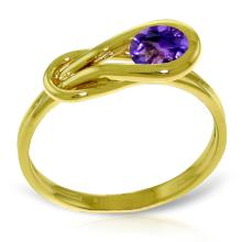 Genuine 0.65 ctw Amethyst Ring Jewelry 14KT Yellow Gold  - ID#F30R4-WGG4212