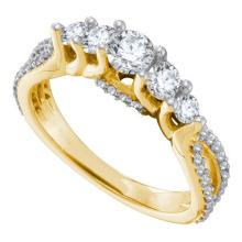 14K Yellow Gold Jewelry 1.0 ctw Diamond Bridal Ring - ID#Y108H2-WGD53683