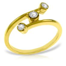 Genuine 0.30 ctw Diamond Anniversary Ring Jewelry 14KT Yellow Gold  - ID#L38A1-WGG4574