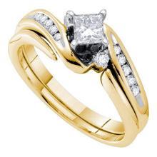 14K Yellow Gold Jewelry 0.56 ctw Diamond Bridal Ring Set - ID#K84V1-WGD30130