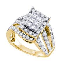 14K Yellow Gold Jewelry 1.0 ctw Diamond Ladies Ring - ID#F102L2-WGD70266