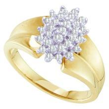10K Yellow Gold Jewelry 0.25 ctw Diamond Ladies Ring - ID#X18A1-WGD55474