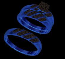 10K Yellow Gold Jewelry 0.28 ctw Diamond Trio Ring Set - ID#N31H2-WGD93848