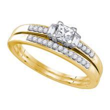 10K Yellow Gold Jewelry 0.45 ctw Diamond Bridal Ring Set - ID#L44Y5-WGD77655