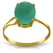 Genuine 2.9 ctw Emerald Ring Jewelry 14KT Yellow Gold - GG#4390