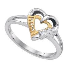 Fine Silver Jewelry 0.03 ctw Diamond Ladies Ring - GD#87961 - REF#Z1W8