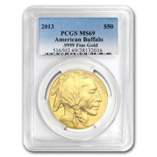 One 2013 1 oz Gold Buffalo MS-69 PCGS - WJA79101